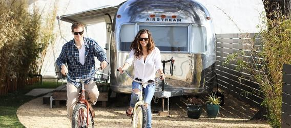 Right in the middle of beautiful Santa Barbara, the Santa Barbara Autocamp is the definition of mobile-park chic. Each of the five Airstreams comes with two beach cruisers so you can roam around town. Look for sister locations coming soon in San Francisco, Los Angeles, and Ventura Beach.