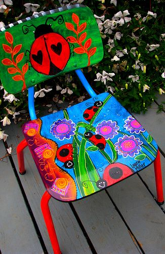 Painted Ladybug Chair. Explore Laurie Miller Designs' photos on Flickr. Laurie Miller Designs has uploaded 58 photos to Flickr.
