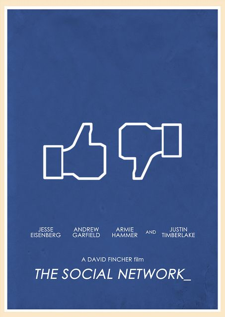 The Social Network (2010) - Minimal Movie Poster by Jon Glanville