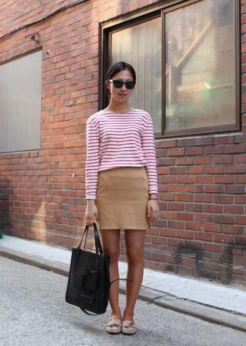 .Summer Vacations, Minis Skirts, Red Stripes, Vacations Outfit, Summer Work Outfit, Stripes Shirts, The Mode, Travel Outfit, Chic Summer Outfit