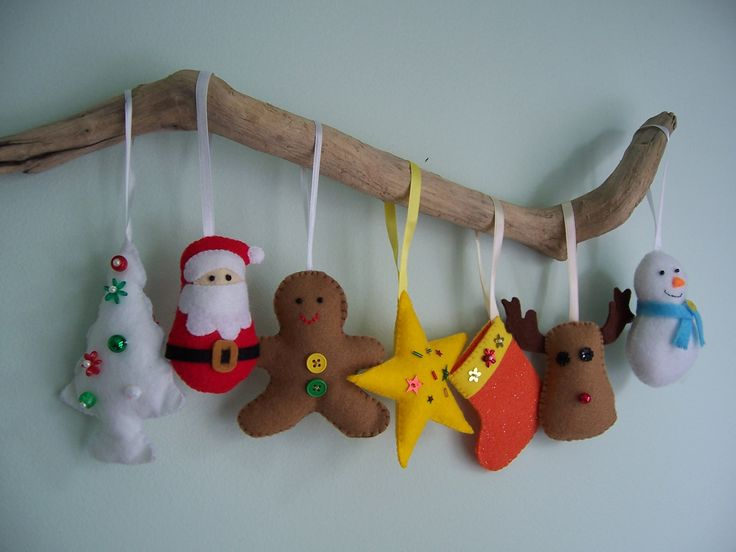 new felt toy christmas ornaments no15 pdf pattern