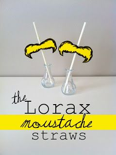 LORAX mustache straws Learning with Dr. Seuss: 100+ Free Dr. Seuss Themed Printables ...
