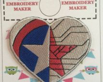 Captain America / Winter Soldier  INSPIRED UNOFFICIAL Embroidered Motif Iron/Sew on Patch Badge Embroidery