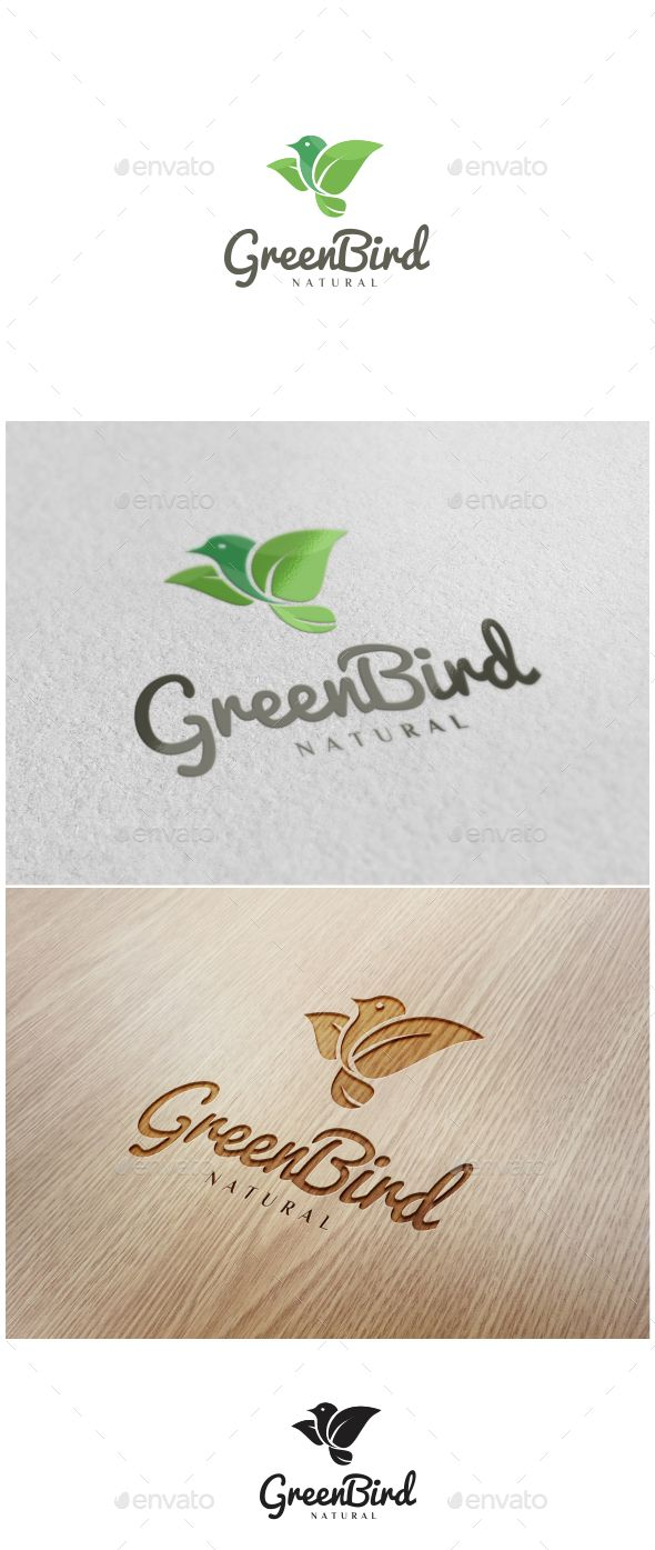 Green Bird Logo - Nature Logo Templates Download here : https://graphicriver.net/item/green-bird-logo/18689468?s_rank=111&ref=Al-fatih