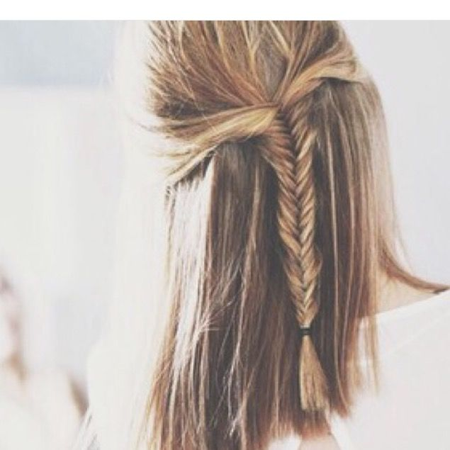 Nice and simple fishtail braid