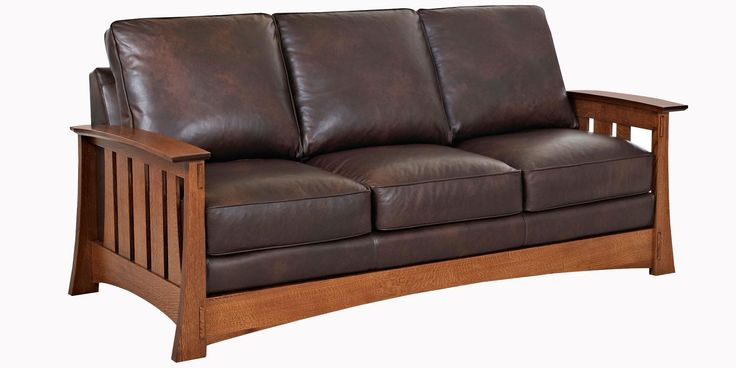 Mission Leather Sofa Set