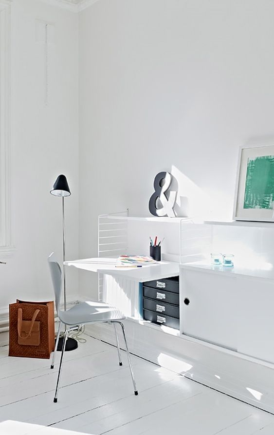 study, studio, office, home office, desk, interior design, interior decoration, interior styling, styling