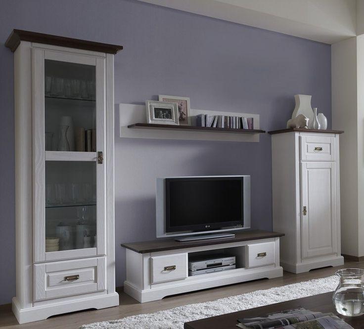 32 best Massivholz Wohnwände images on Pinterest Woody - wohnzimmermöbel weiß landhaus