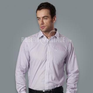 Chemise homme pas cher coton avec bande manches longues [#ROBE208229] - robedumariage.com