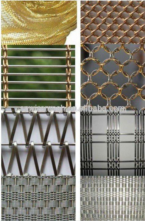 metal mesh drapery/metal mesh curtain/decorative woven mesh $0.5~$2