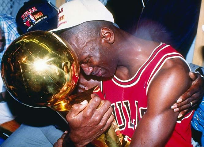 michael jordan- THE BEST PLAYER OF ALL TIME. just one of the many championships jordan won