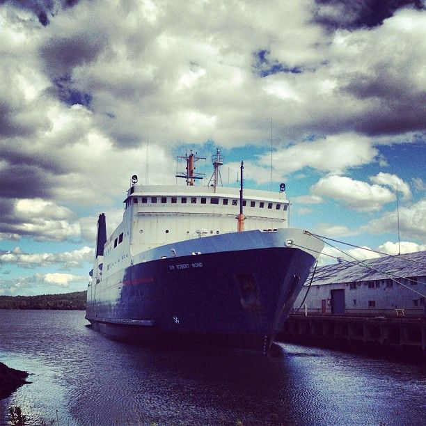 The Marine Atlantic Vessel, Sir Robert Bond, was built in 1975. The 10,500 ton ship was designed as a rail-car ferry. When the ferry, the William Carson was lost, the Bond replaced it on the seasonal Lewisporte to Goose Bay run, carrying passengers and freight! Capacity of 235 passengers, 30 vehicles, 15 trucks and trailers.