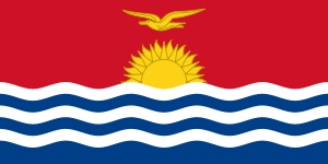 Kiribati is an island nation in the central Pacific Ocean. The nation comprises 33 atolls and reef islands and one raised coral island, Banaba. They have a total land area of 800 square kilometres (310 sq mi).[13] and are dispersed over 3.5 million square kilometres, (1,351,000 square miles).