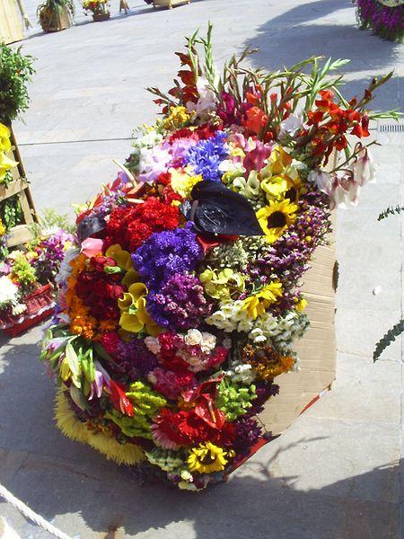 The Flower Bearers' Parade - Medellin, Colombia http://es.wikipedia.org/wiki/Desfile_de_Silleteros