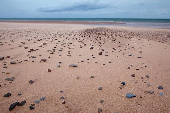 Wind blown sand on Inverness Beach, Nova Scotia