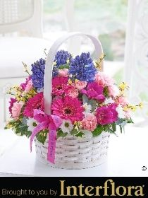 Happy Birthday Scented Spring Basket with Happy Birthday Balloon