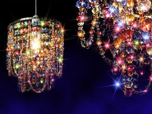 The Gypsy Chandelier Light | ... Tier-Crystal-Effect-Gypsy-Multicoloured-Pendant-Chandelier-Light-Shade