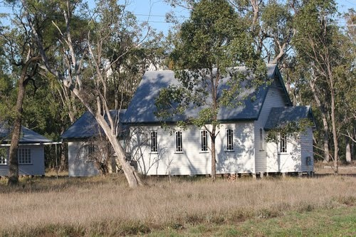 Aussie country church at the gums..