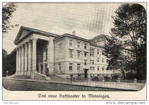 Das neue Hoftheater in Meiningen   -  Druck , 1909