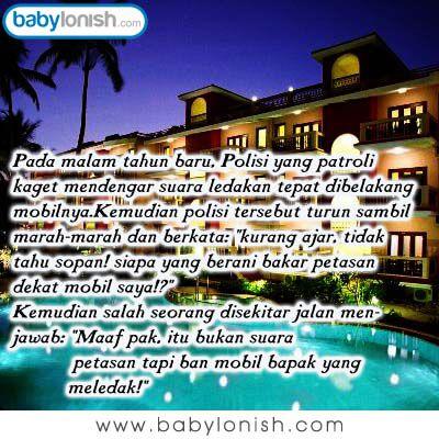 Kisah seorang polisi di malam tahun baru.  Humor ini dipersembahkan oleh www.babylonish.com