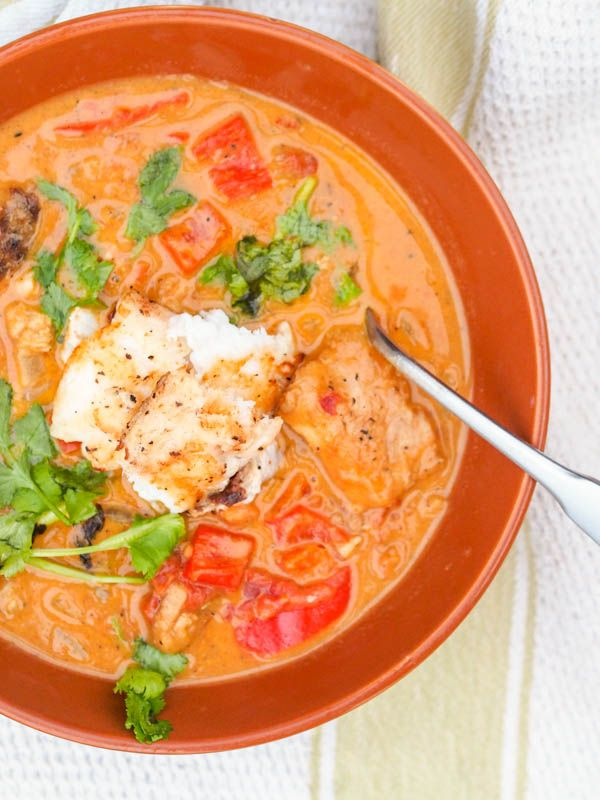 This Caribbean Fish Curry is a creamy one pot meal of coconut milk, tomatoes, curry spices and tender red snapper ready in 30 minutes.
