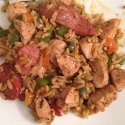 Risotto with Chicken, Sausage and Peppers Recipe and Video
