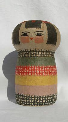 1950's Paper Maché Kokeshi
