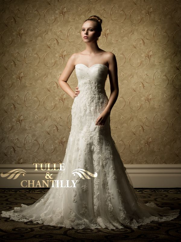 Waterfall Chic Sweetheart Lace Mermaid Beaded Wedding Gown Tbqw030 Loves Pinterest Dresses And Gowns