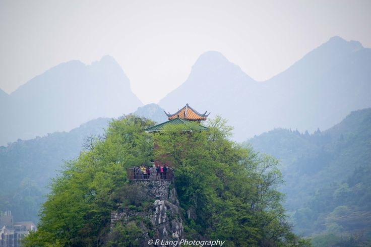 Fobu Shan in Guilin, China. Beautiful hills slowly disappearing into the background