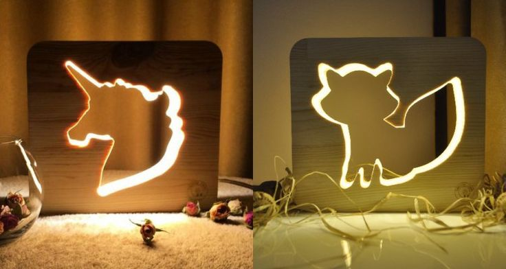 How cute are these animal night lights?