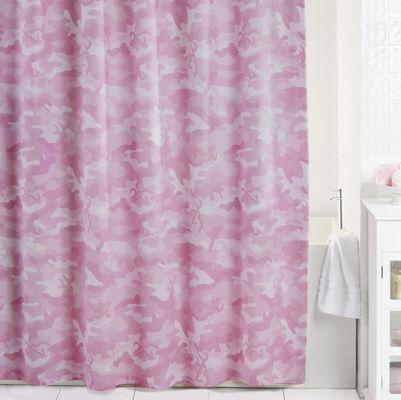 Browning Buckmark Camo Pink Shower Curtain