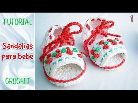 Sandalias de verano - TODOS LOS TALLES (Parte 1) CROCHET bebé paso a paso
