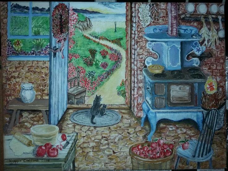 Last of the three oil on canvas