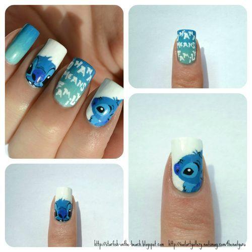 lilo and stich nail art | Nail Art Stitch
