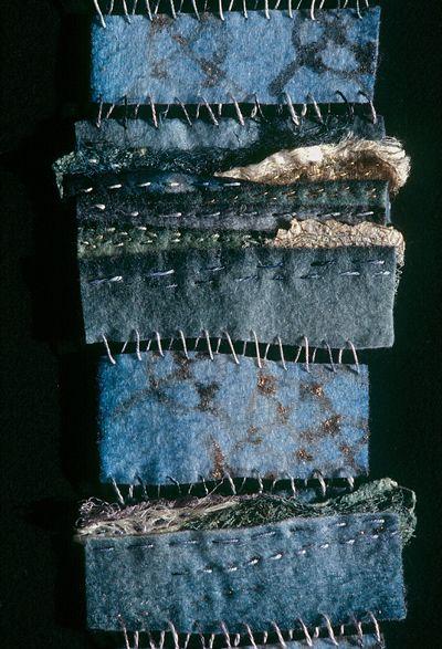 Jennifer Talbot texture , edgy textile art