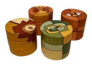 tarros de carton  pintados