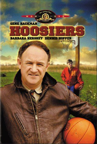 Hoosiers (1986) High school basketball is king in small-town Indiana, and the 1954 Hickory Huskers are all hope and no talent. But their new coach, abrasive and unlikable Norman Dale, whips the team into shape ... while also inciting controversy. Gene Hackman, Barbara Hershey, Dennis Hopper...2b
