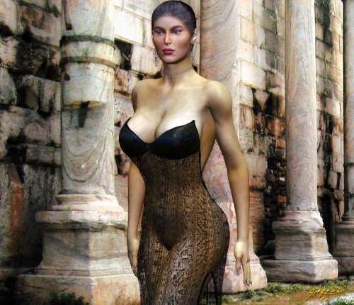 Cruel mistress in hot lingerie