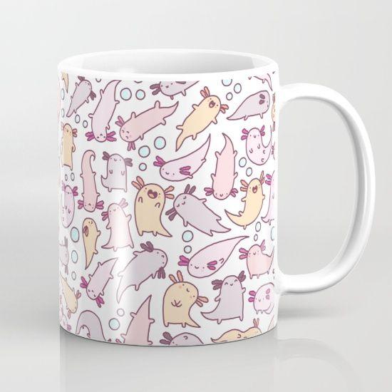 kawaii, cute, doodle, axolotl, axolotls, cute animals, pink