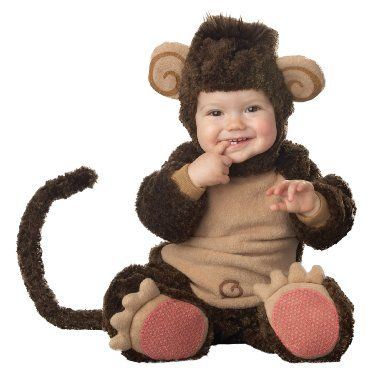 Incharacter Lil Characters Infant Monkey Costume, Brown/Tan, 18-24 Months: Amazon.co.uk: Toys & Games