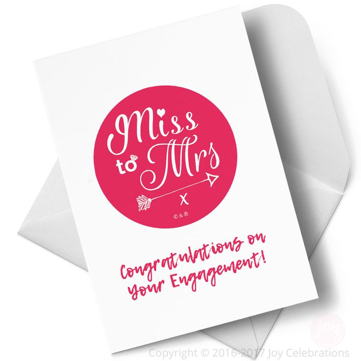 Quality Greeting Cards for Hen Do Party, Engagement or Bride to Be Celebrations – designed in Sussex & Made in Britain, exclusively for Joy Celebrations ®.    #MissToMrs #Hen #Bride #HenDo #HenParty #BrideToBe #Engaged #Engagement #GettingMarried #Marriage #Wedding #JoyCelebrations