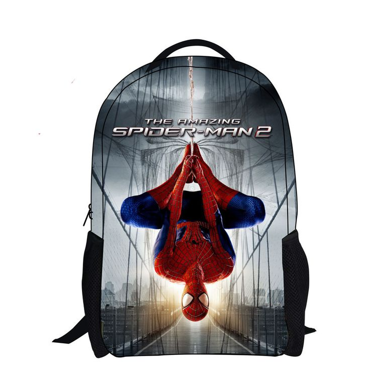 2017 cool gift cartoon printing schoolbag backpack spiderman bag kid children school bags for boys mochilas escolares infantis