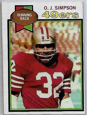 d56c077756d 1979 Topps Football #170 O J Simpson. 1979 Topps Football #170 O J Simpson  San Francisco 49ers ...