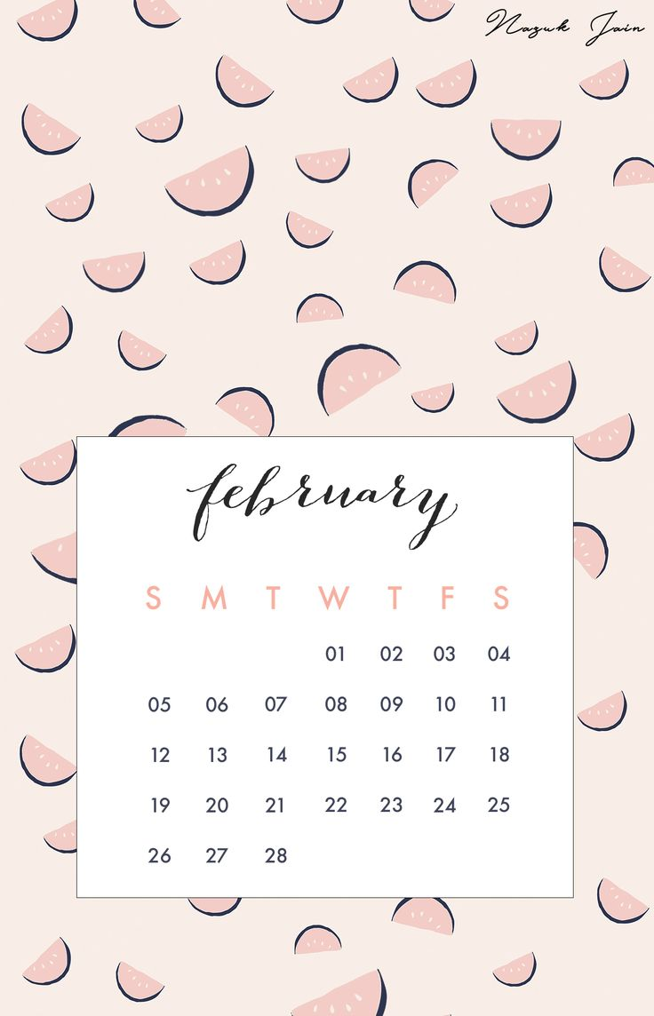 February - Free Calendar Printables 2017 by Nazuk Jain