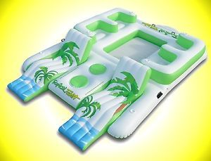 Tropical Tahiti Floating Island Inflatable Pool Float Floatation FLOATY Huge | eBay