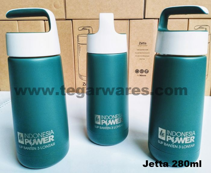 Jetta Promotional Vaccum Flask 280ml, to keep you hot drink or water in any situations. Jetta also available in blue and red colors. As shown above, a Jetta Vaccum Flasks ordered by PT Indonesia Power UPJ3 Lontar, Banten Tangerang Indonesia.