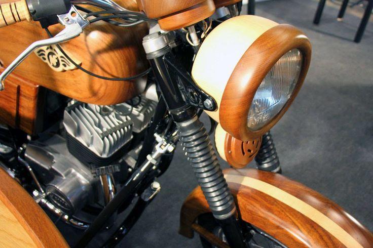 by AnneLiWest|Berlin #DMY International Design Festival Berlin #wooden motorcycle by Norberto Novalis da Fonseca