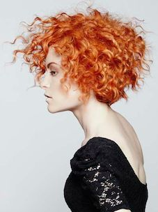 want this kind of edginess! Not the color, but the erratic all over the place curls that aren't uniform.
