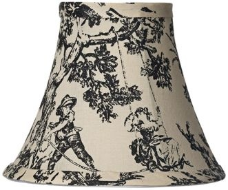 Black & white toile chandelier shade from Lamps Plus    this will TOTALLY be my future living room inspiration <3