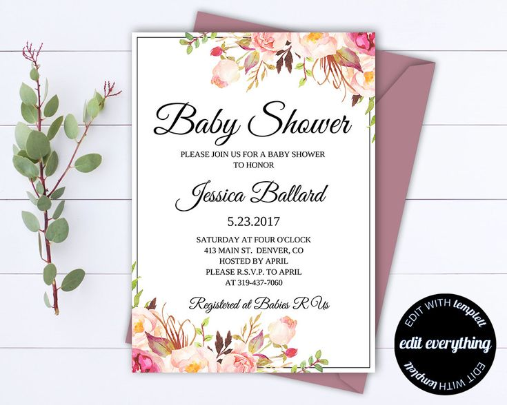 100 best Baby Shower Invitations images on Pinterest